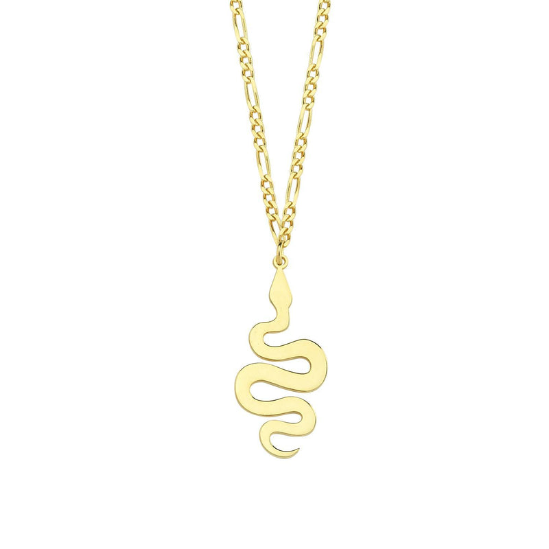Twisted Snake Pendant Necklace necklace The Sis Kiss