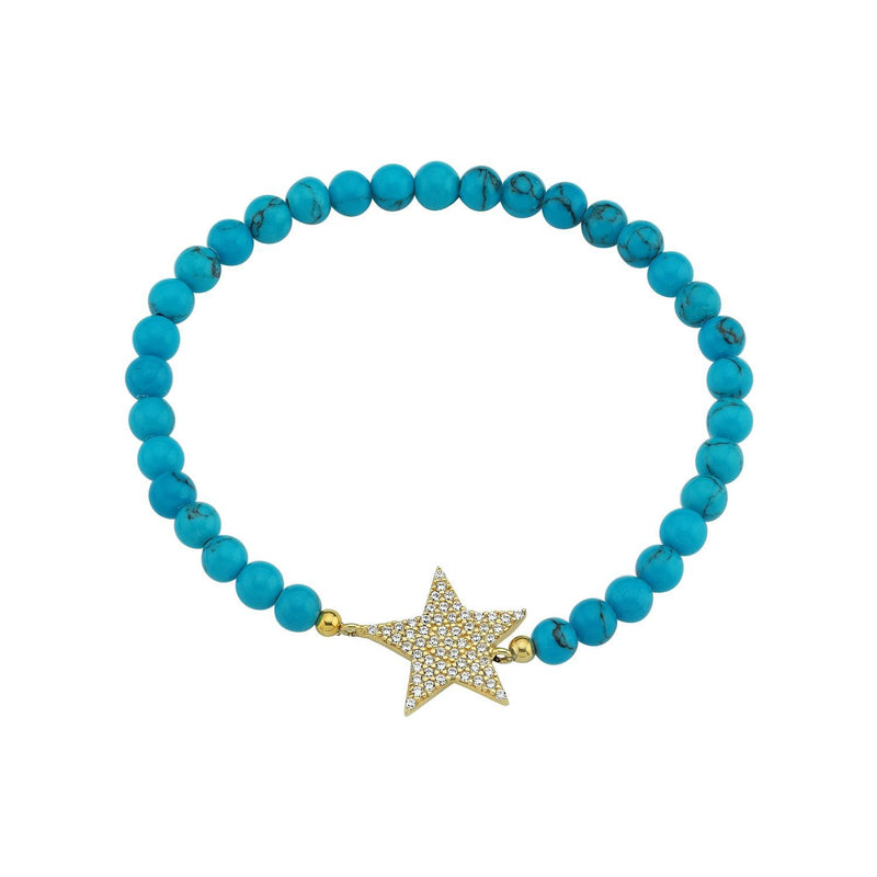 Crystal Star Beaded Stretch Bracelets JEWELRY The Sis Kiss Turquoise