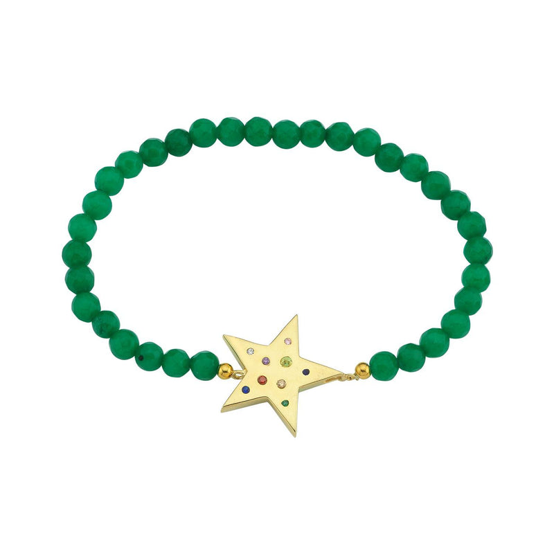 Crystal Star Beaded Stretch Bracelets JEWELRY The Sis Kiss Green