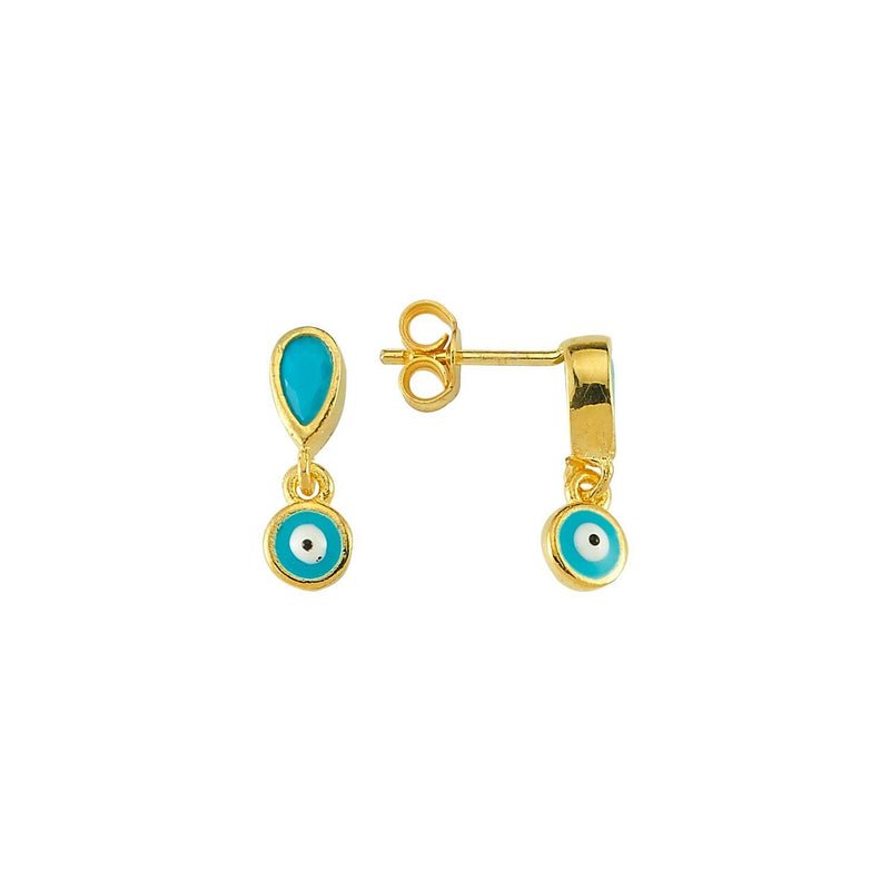 Turquoise Evil Eye Studs JEWELRY The Sis Kiss