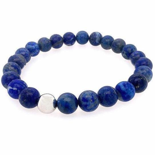 Unisex Beaded Stretch Bracelets JEWELRY The Sis Kiss Blue