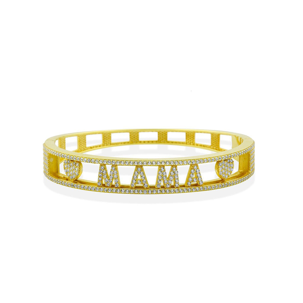 "All the Moves Mama Bracelet JEWELRY The Sis Kiss 6 (2.25"" Inside Diameter) Gold"