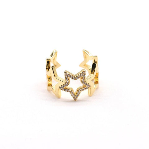 Crystal Star Adjustable Ring