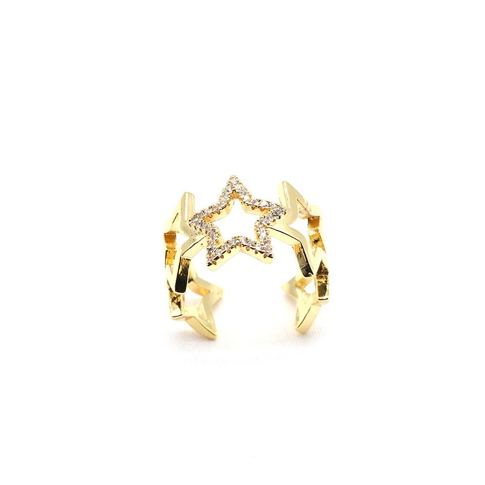 Crystal Star Adjustable Ring JEWELRY The Sis Kiss