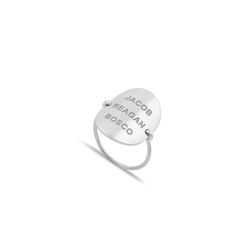 Custom Oval Nameplate Ring