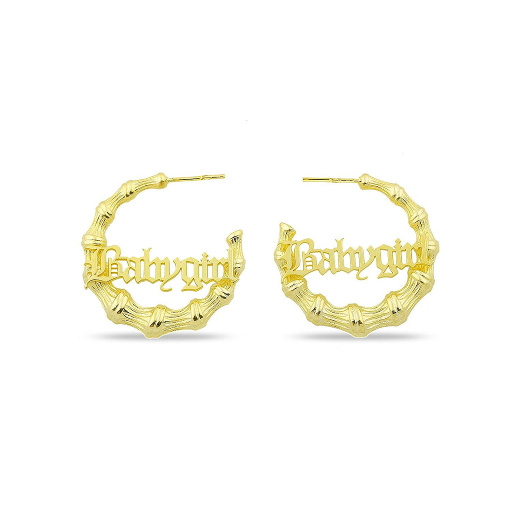 Babygirl and Mama Bamboo Hoops JEWELRY The Sis Kiss Babygirl