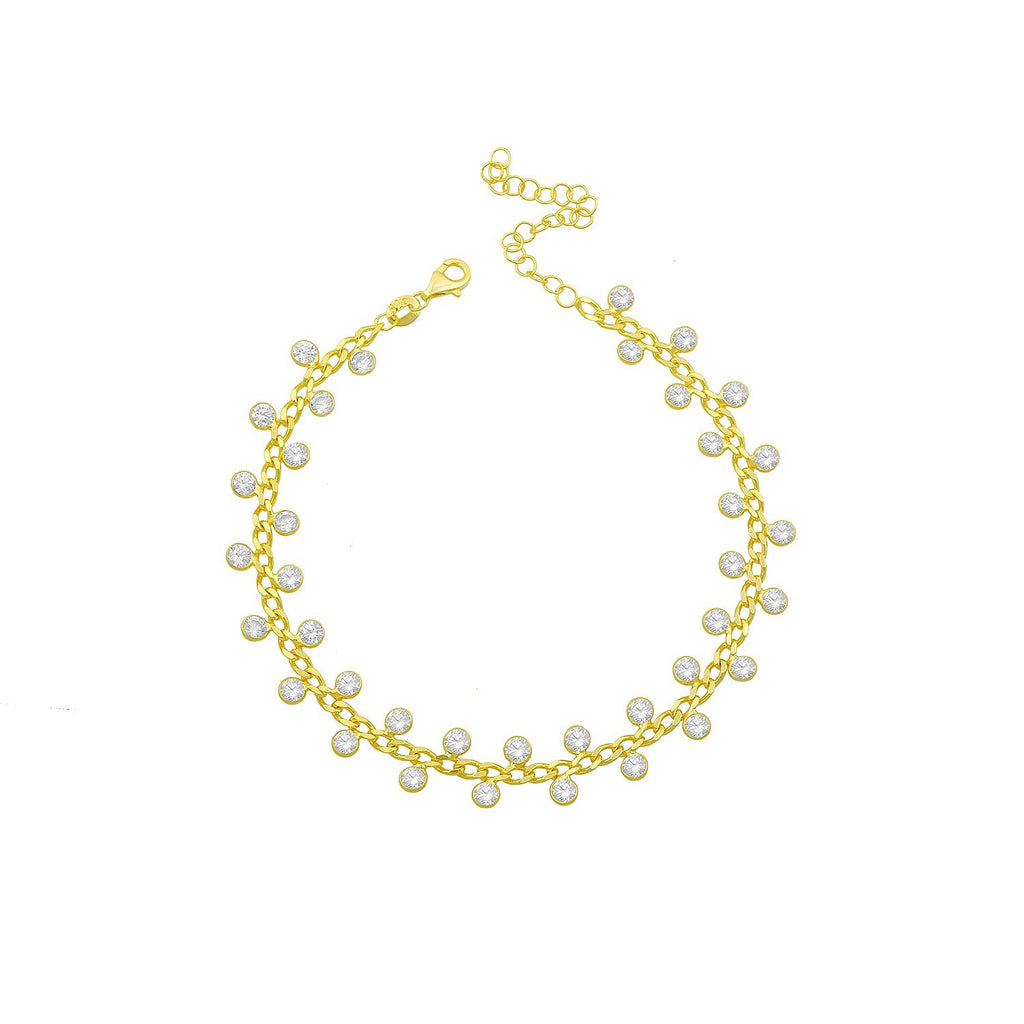 Dotted Crystals Anklet ACCESSORY The Sis Kiss