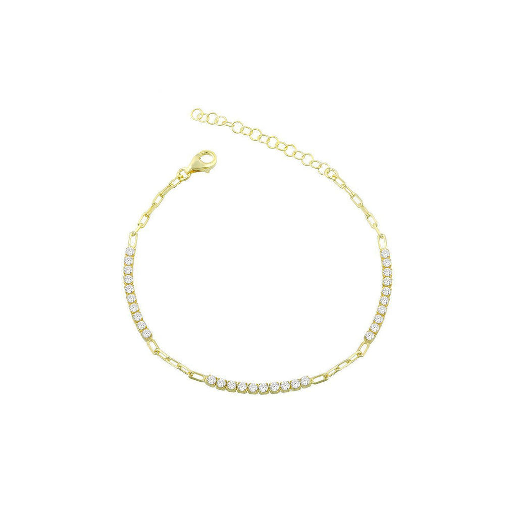 Crystal and Gold Links Anklet ACCESSORY The Sis Kiss