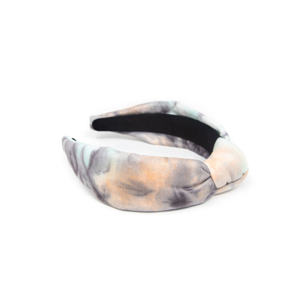 Pastel and Charcoal Tie-Dye Headband ACCESSORY The Sis Kiss