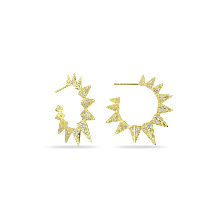 Pave Spike Hoop Studs JEWELRY The Sis Kiss