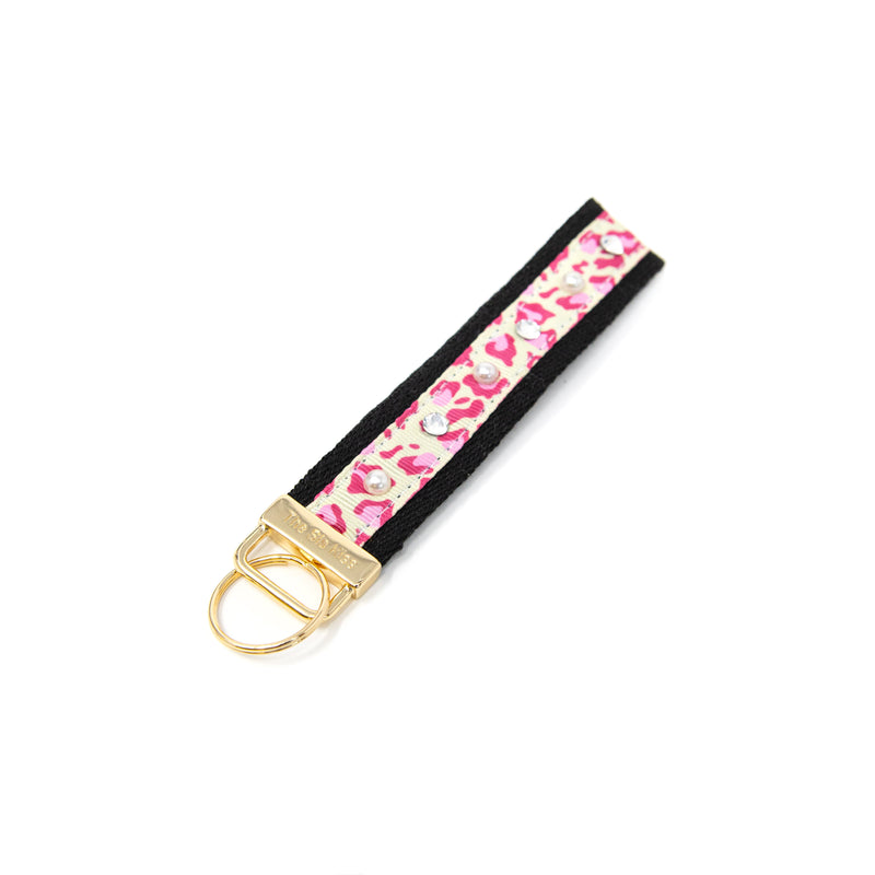 Leopard and Tie Dye Keychains ACCESSORY The Sis Kiss Pink Leopard Print
