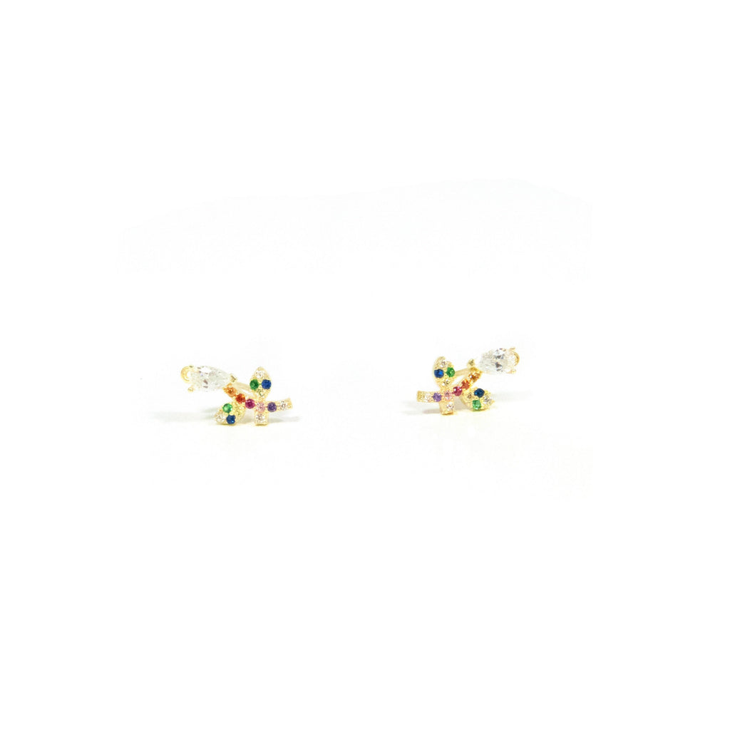Prettiest Flower Stud Earrings JEWELRY The Sis Kiss