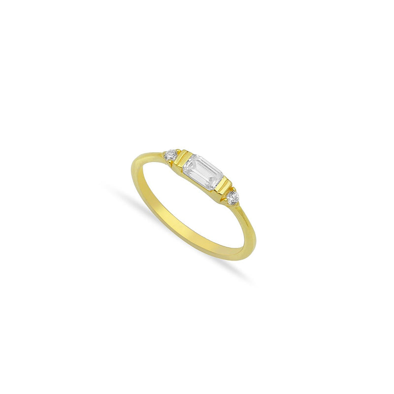 Princess Baguette Ring JEWELRY The Sis Kiss