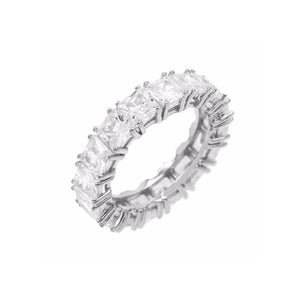 Princess cut eternity band custom ring