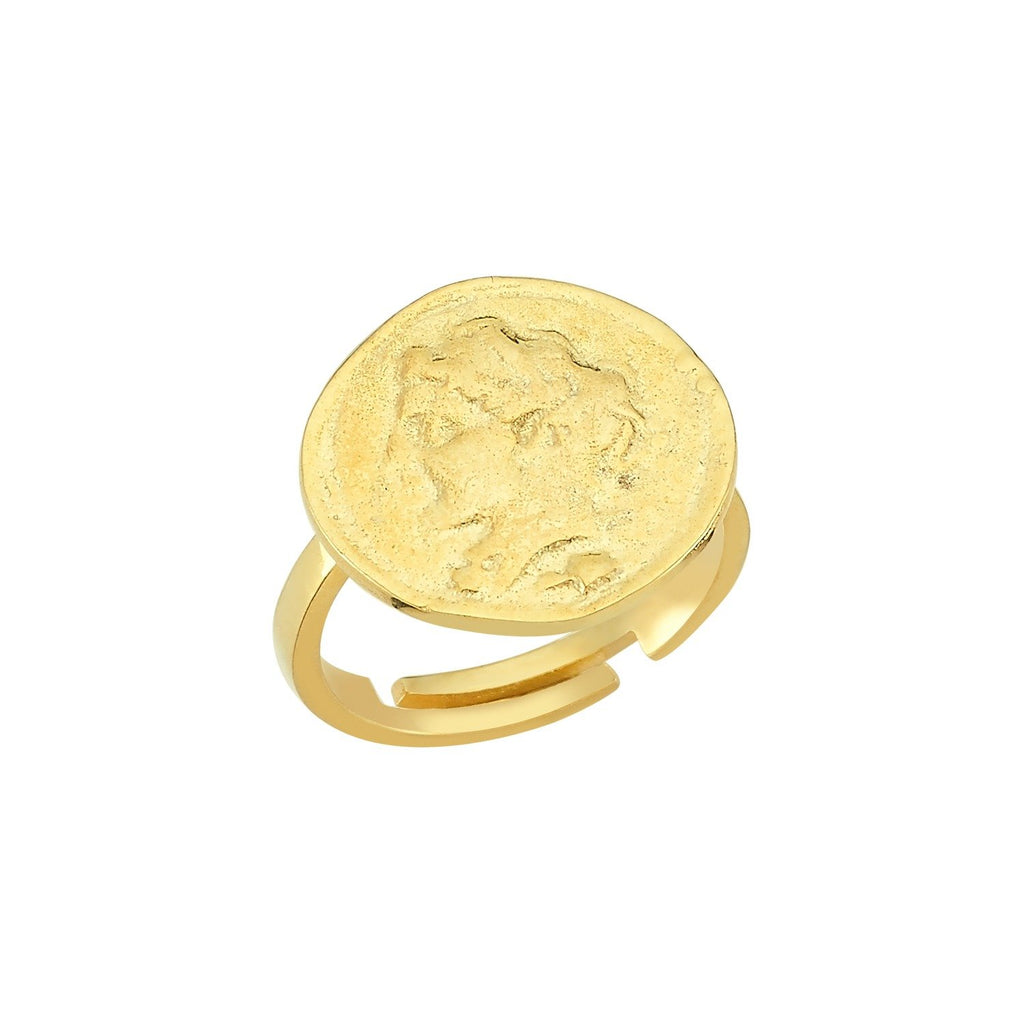 Roman Coin Adjustable Ring JEWELRY The Sis Kiss