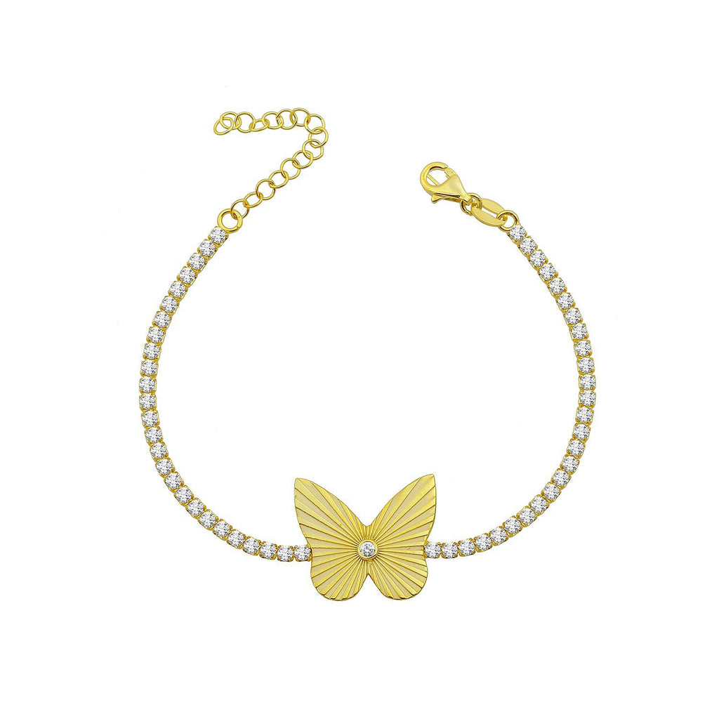 Radiant Butterfly Tennis Bracelet JEWELRY The Sis Kiss
