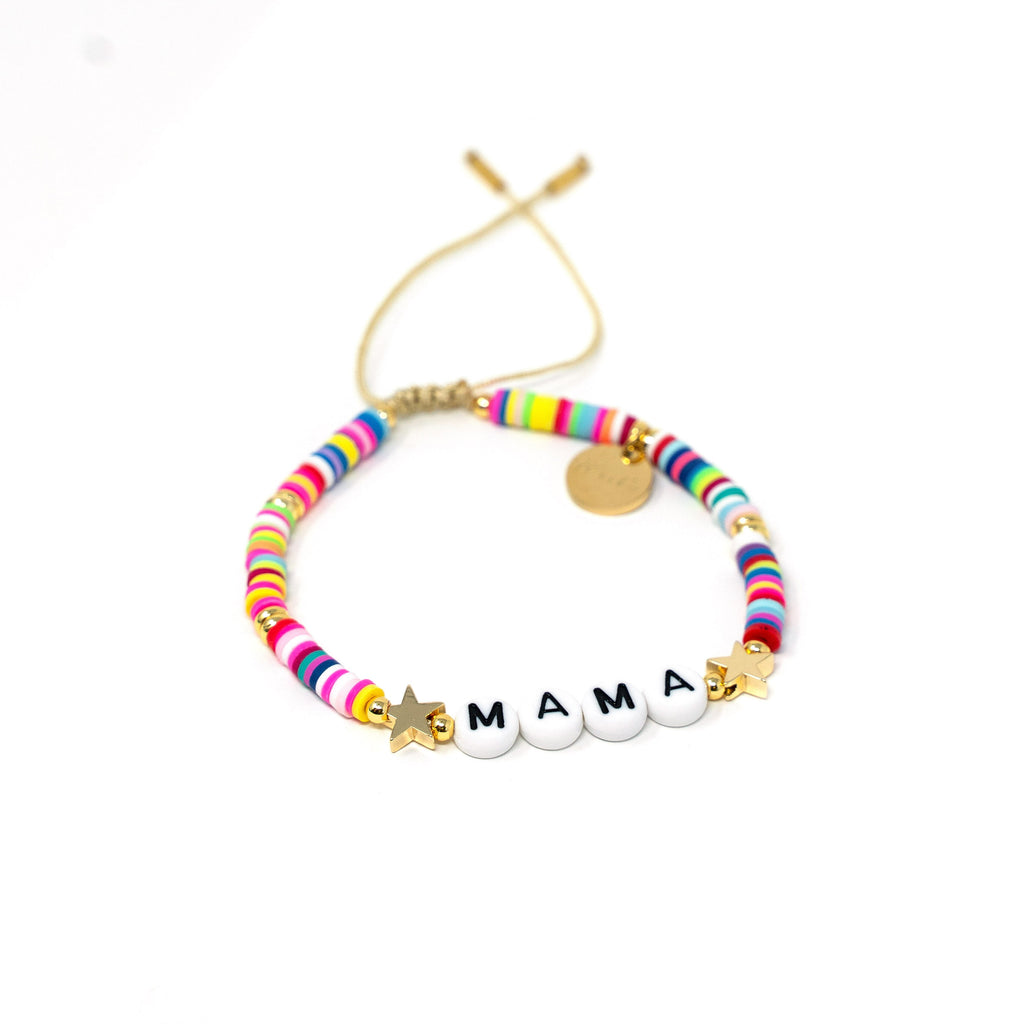Rainbow Rockstar Bracelets JEWELRY The Sis Kiss Mama