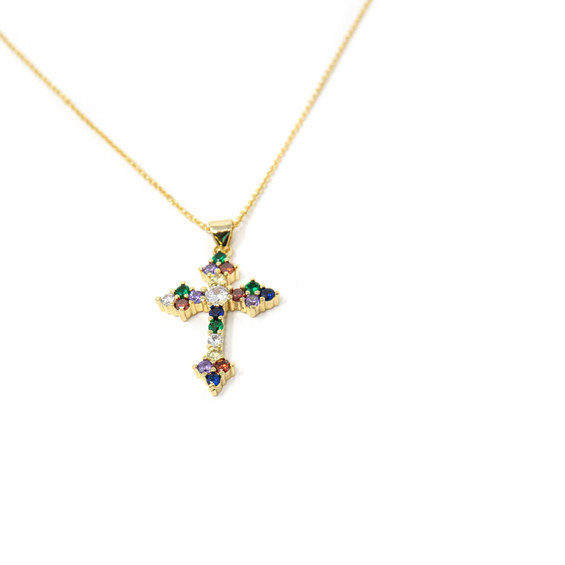 Rainbow Cross Pendant