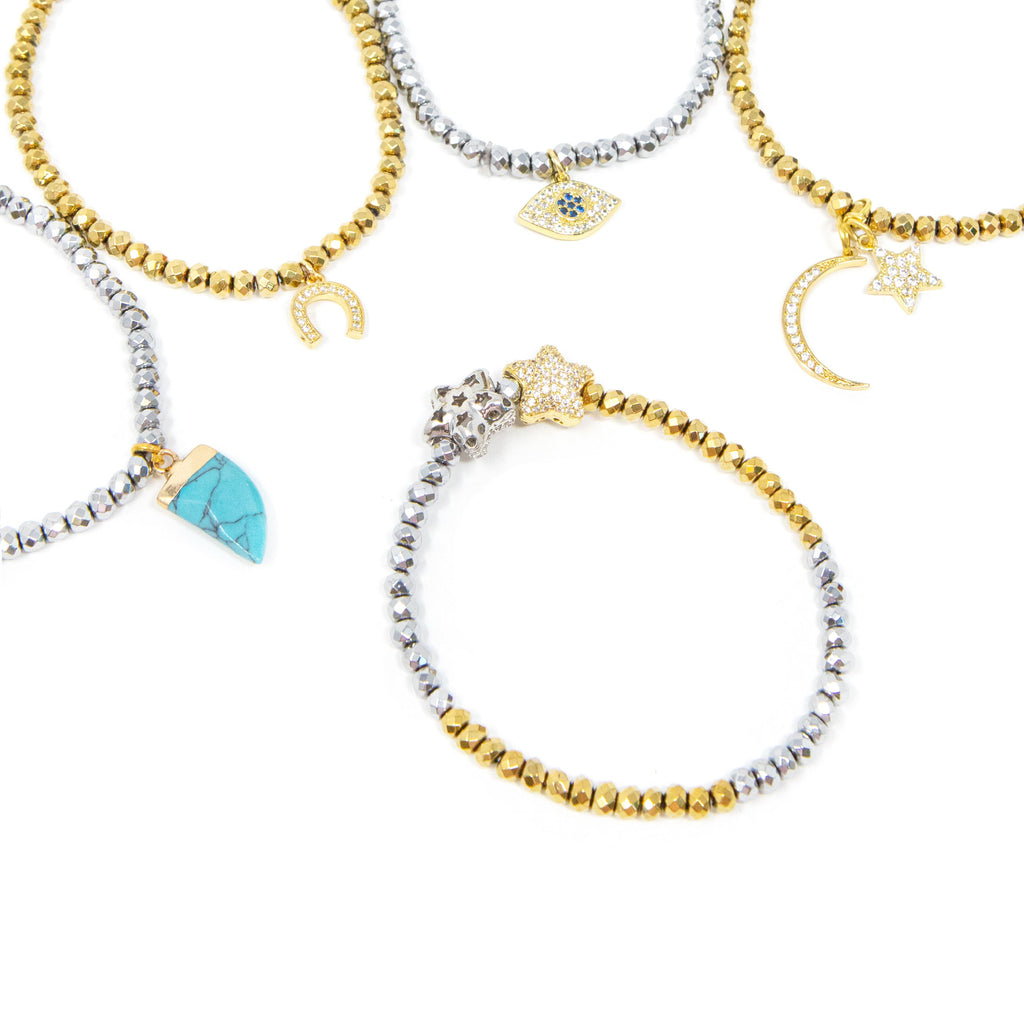 Sparkle & Charm Bracelets JEWELRY The Sis Kiss