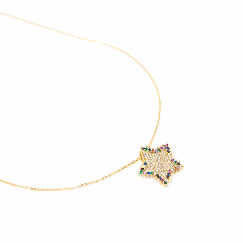 Rainbow Star Necklace JEWELRY The Sis Kiss