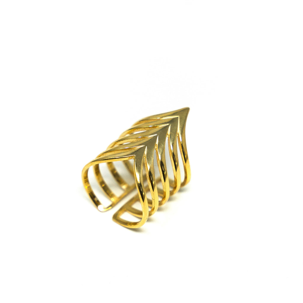 Statement Pointed Chevron Ring JEWELRY The Sis Kiss