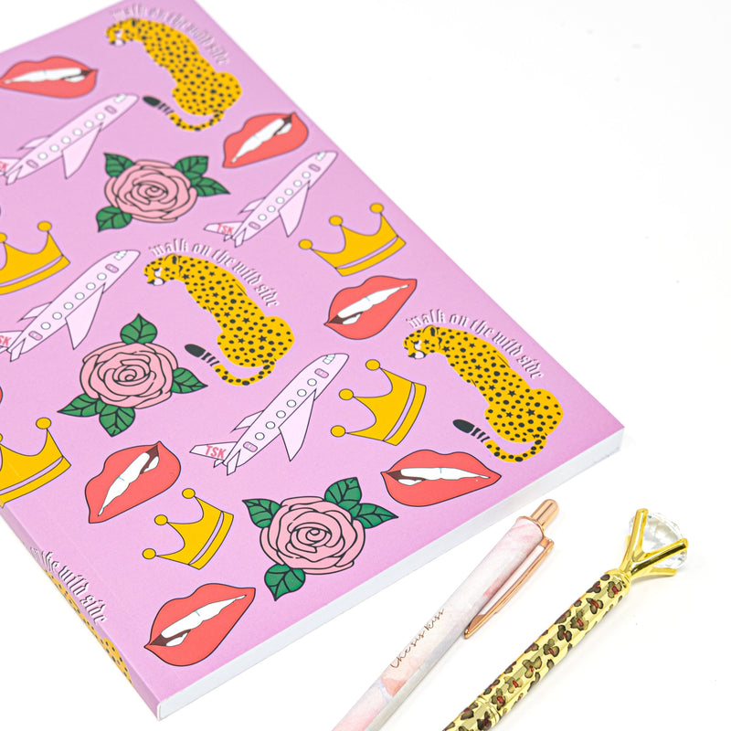The Sis Kiss Notebooks HOME The Sis Kiss Pink Stop and Smell the Roses