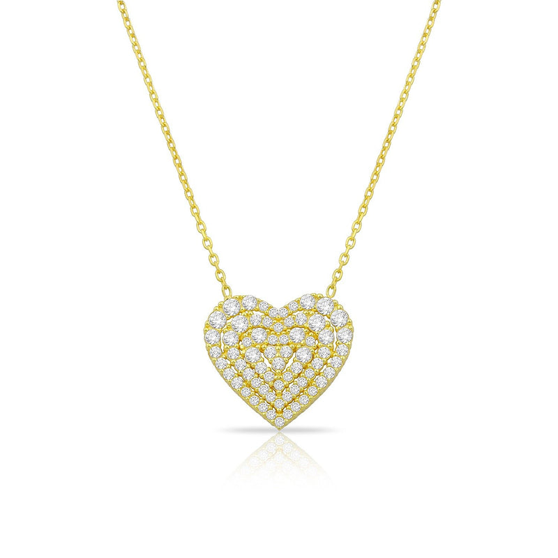 Sweetheart Crystal Heart Necklace JEWELRY The Sis Kiss