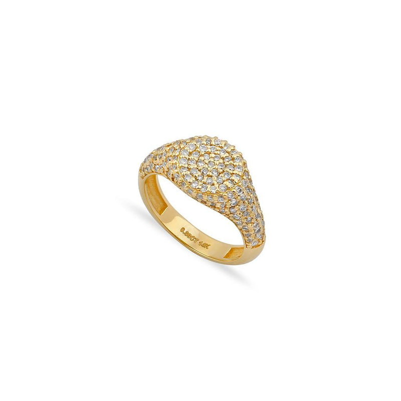 TSK Downing Street Diamonds Pinky Ring JEWELRY The Sis Kiss 3 14k Gold