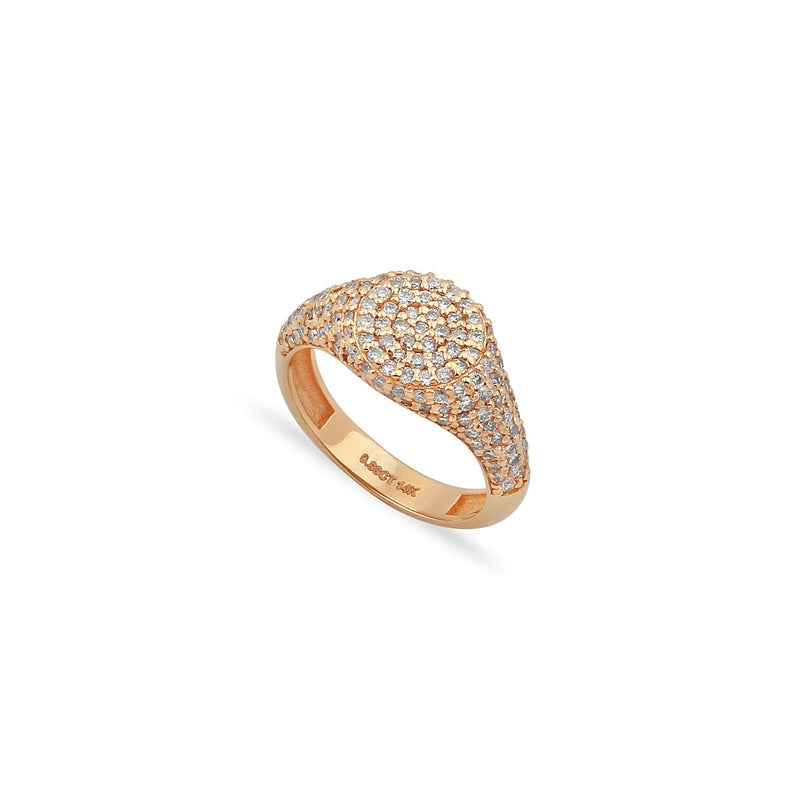 TSK Downing Street Diamonds Pinky Ring JEWELRY The Sis Kiss 3 14k Rose Gold