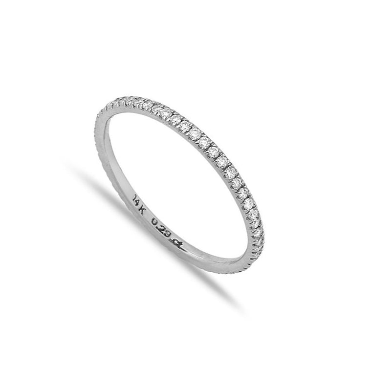 TSK Diamond Eternity Band JEWELRY The Sis Kiss 14k white gold 5