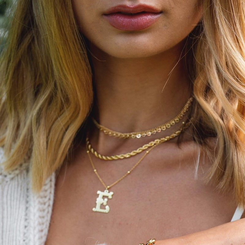 The Sis Kiss Muse Initial Necklace JEWELRY The Sis Kiss