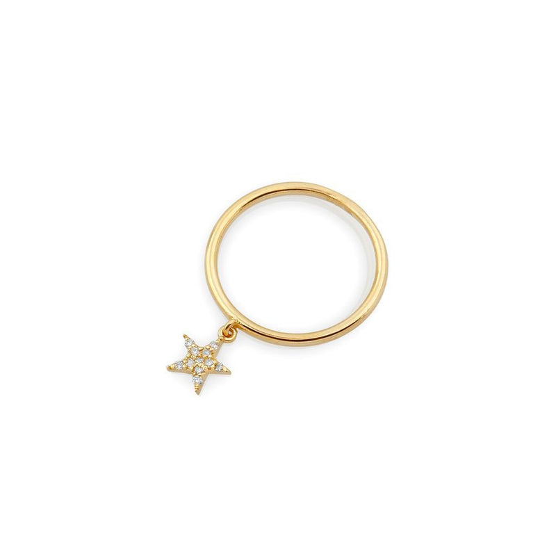 TSK Diamond Star Charm Ring JEWELRY The Sis Kiss