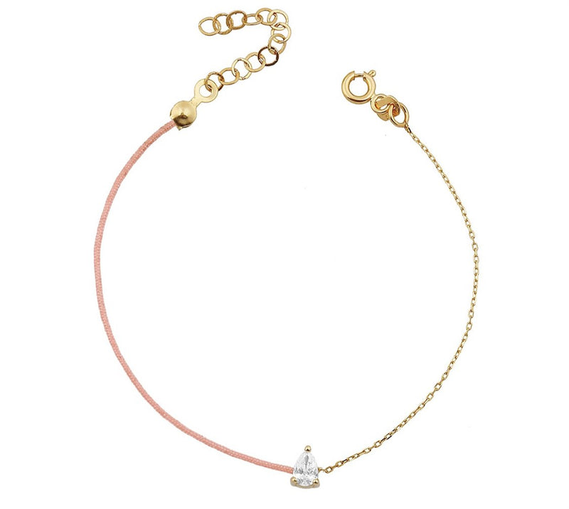 TSK Downtown Pear Cut Diamond Bracelet JEWELRY The Sis Kiss
