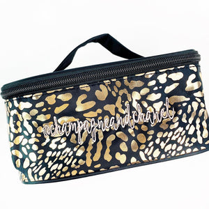 Custom Leopard Cosmetic Bag