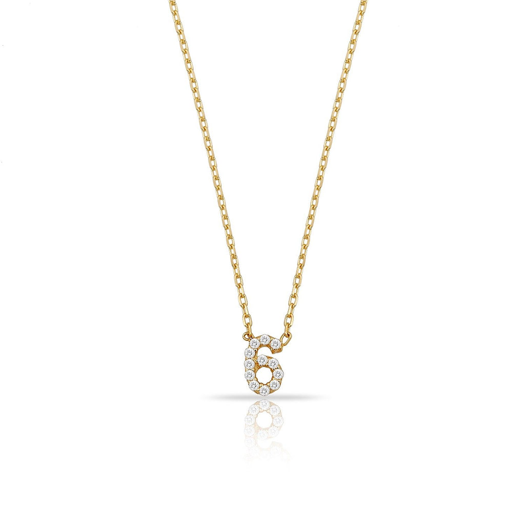 TSK Perry St. Diamond Digit Necklace JEWELRY The Sis Kiss 14k Gold