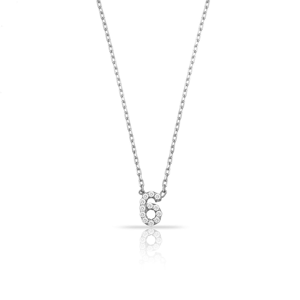 TSK Perry St. Diamond Digit Necklace JEWELRY The Sis Kiss 14k White Gold