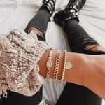 Gold Hex and Crystal Bracelet JEWELRY The Sis Kiss
