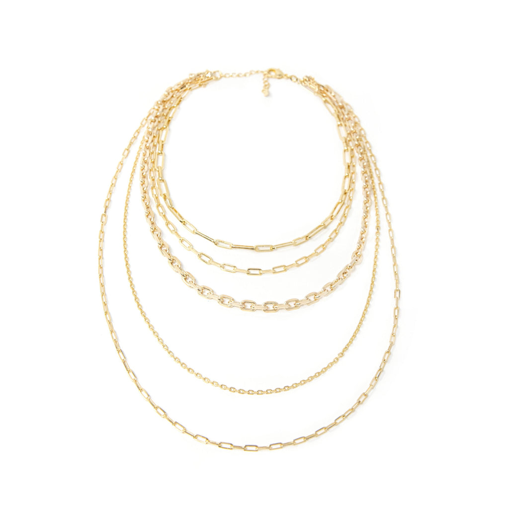 The Sis Kiss Statement Layered Chain Link Necklace necklace The Sis Kiss