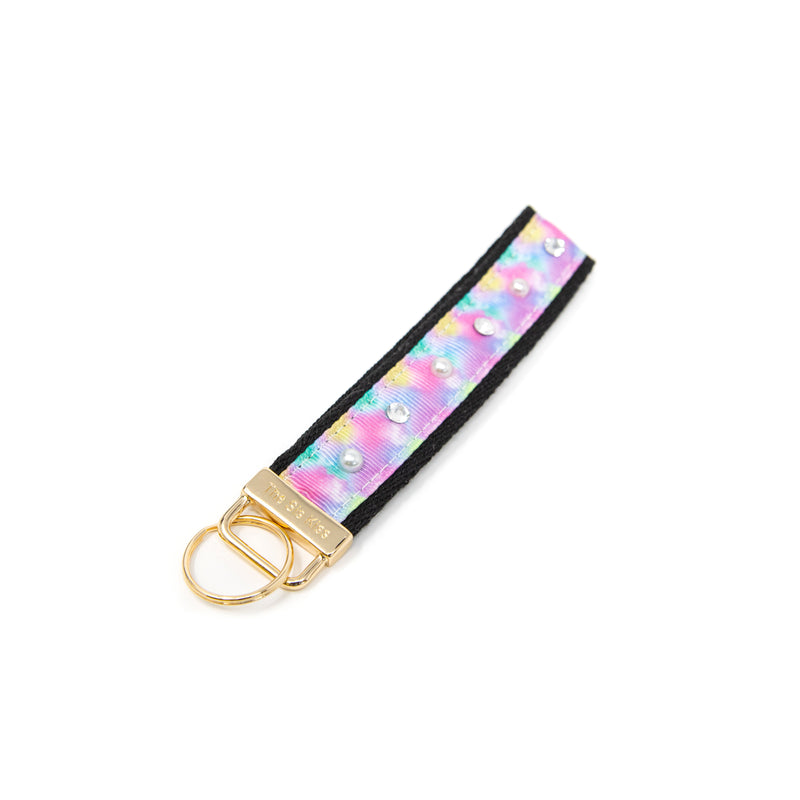 Leopard and Tie Dye Keychains ACCESSORY The Sis Kiss Pastel Tie Dye