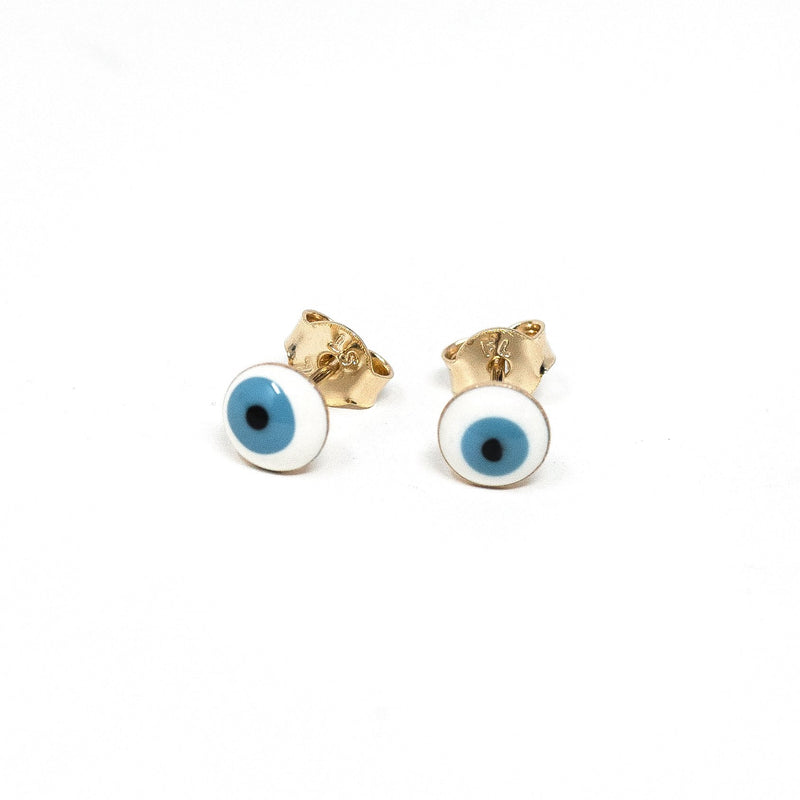 Tiny Evil Eye Stud Earrings JEWELRY The Sis Kiss