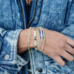 Crystal Accent Chain Link Bracelet