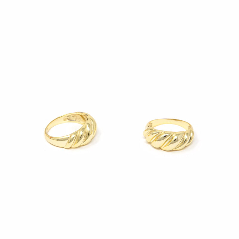Dome and Twist Gold Rings JEWELRY The Sis Kiss Twist 6