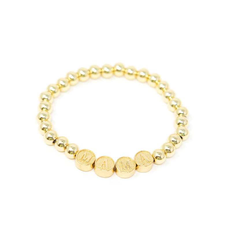 All Gold Mama and Love Bracelets JEWELRY The Sis Kiss MAMA