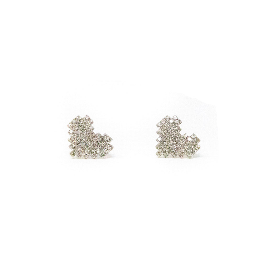 Sparkling Heart Studs JEWELRY The Sis Kiss