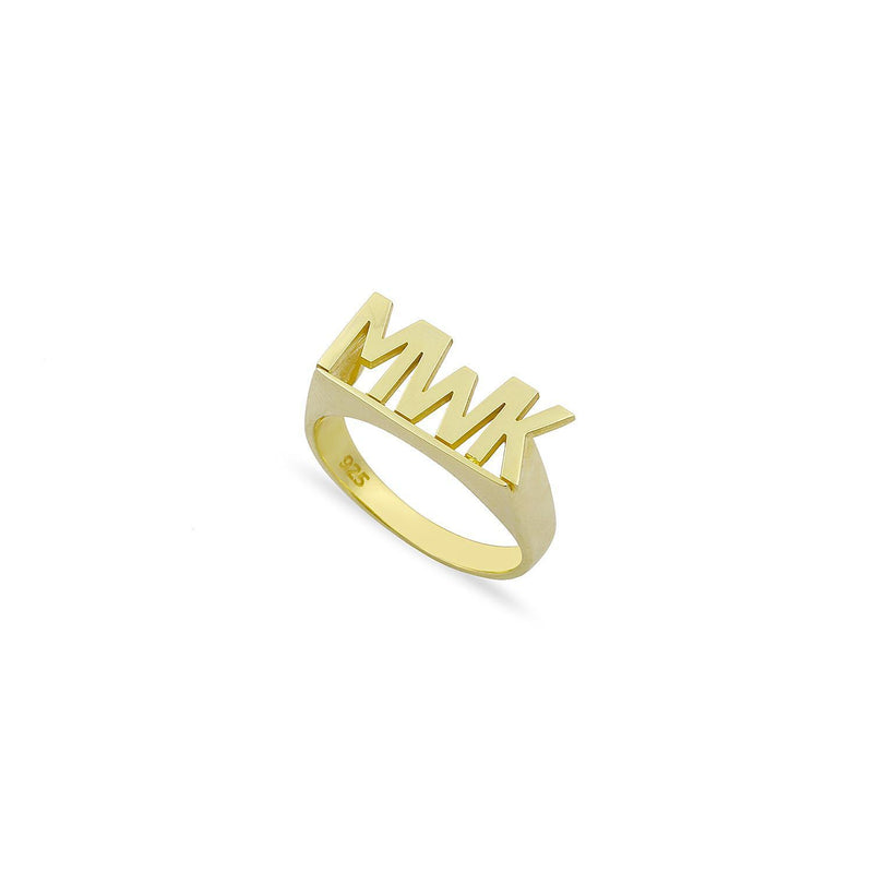 Custom Bold Initials Ring JEWELRY The Sis Kiss