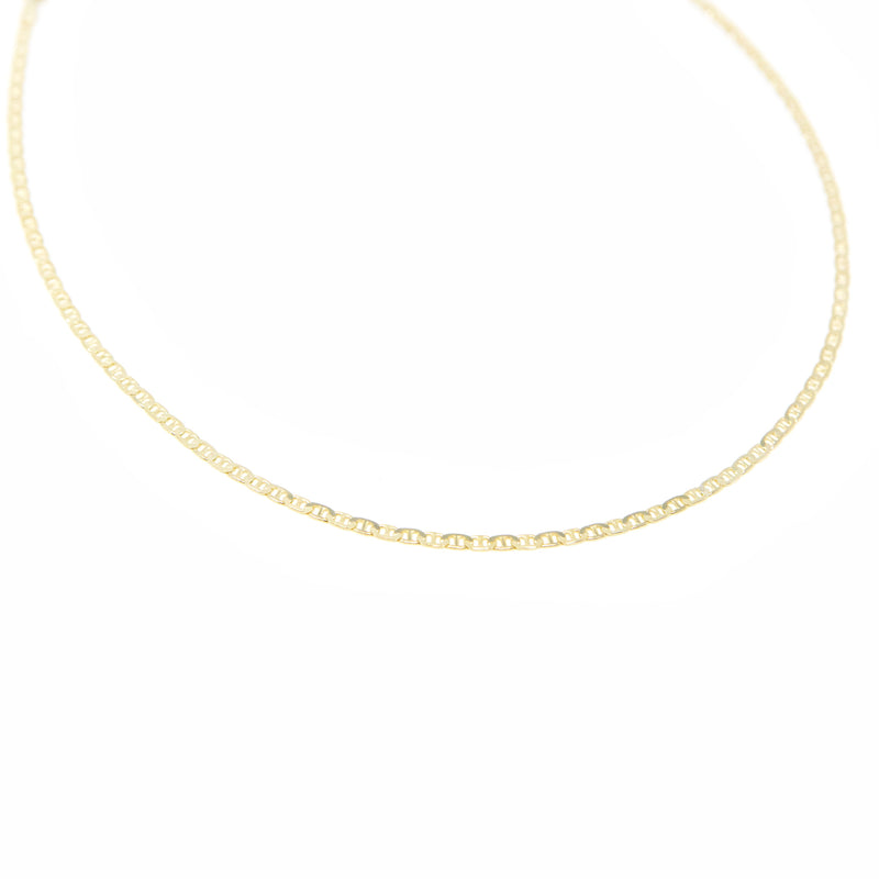 Gold Oval Chain Link Choker necklace The Sis Kiss