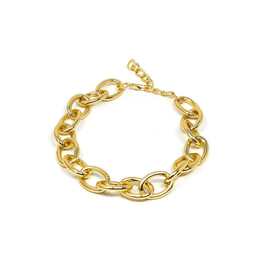 Bold Gold Chain Chokers JEWELRY The Sis Kiss Oval links