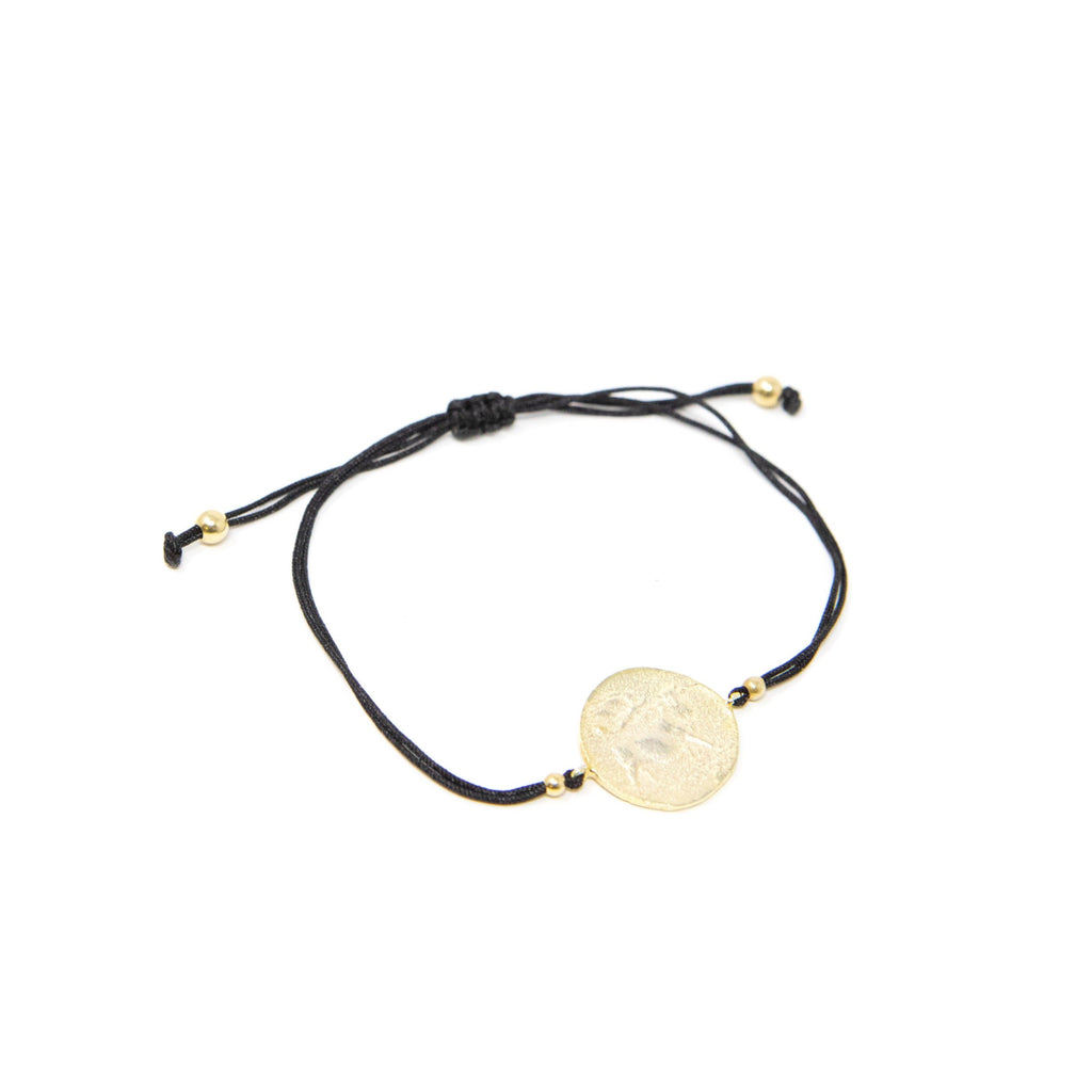 Roman Coin Cord Bracelets JEWELRY The Sis Kiss Black