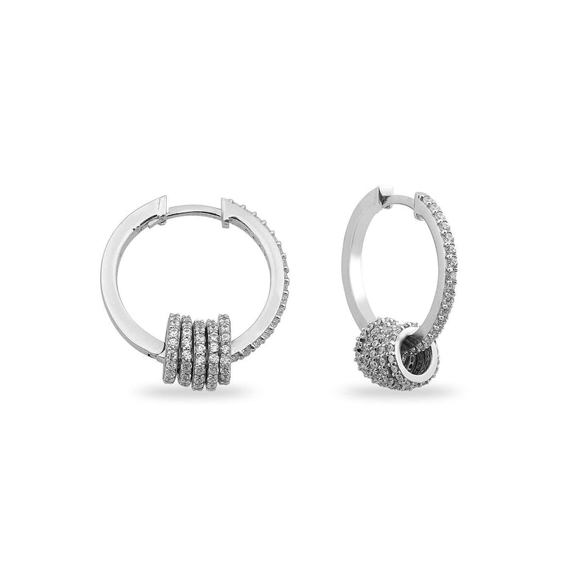 Crystal Ring Charms Mini Hoops JEWELRY The Sis Kiss