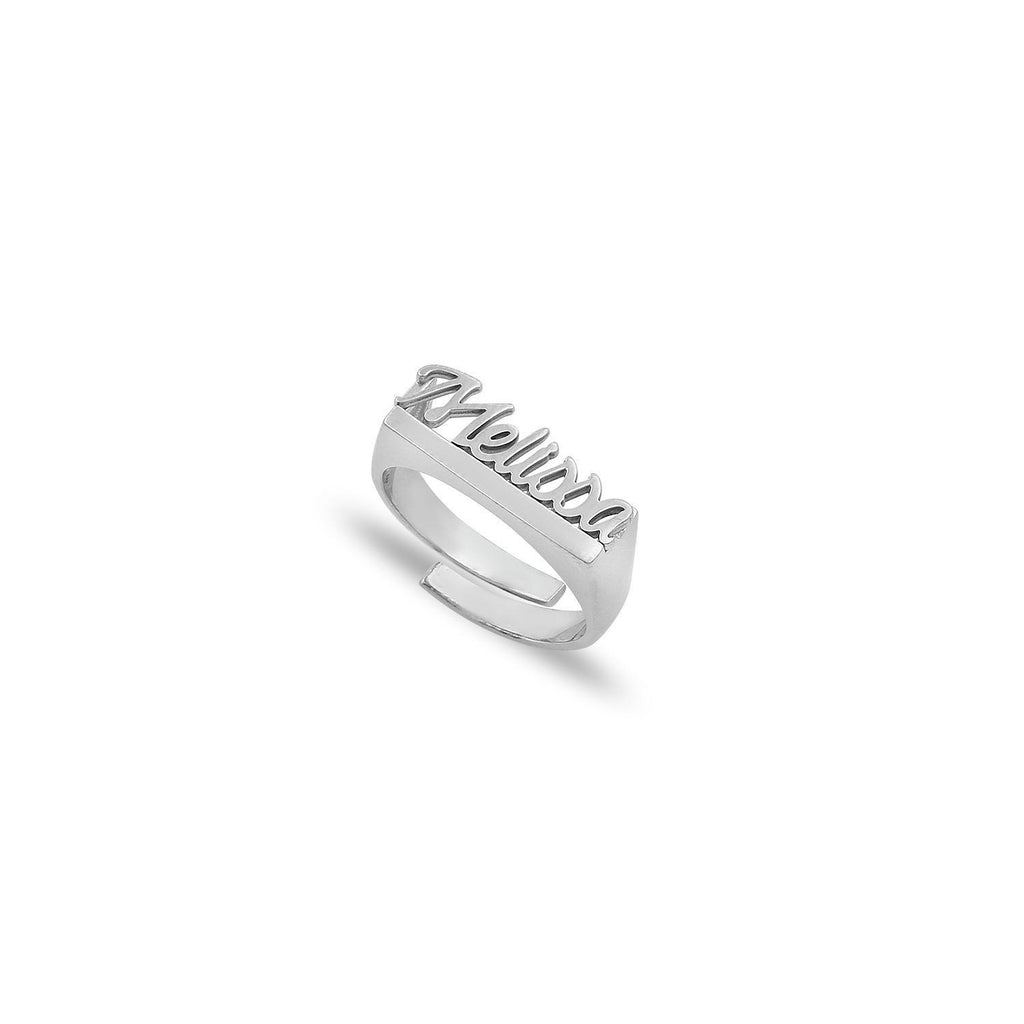 Custom Script Adjustable Ring